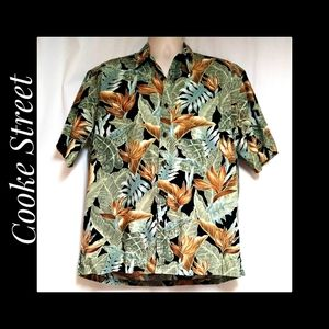 Cooke Street Hawaiian Shirt Monstera Leaf Sz Large